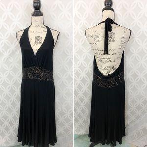 Jones York Embellished Sexy Halter Dress NWT